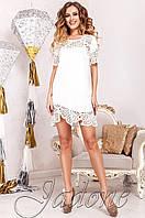 Женская белая туника Санти_1 Jadone Fashion 50-56 размеры