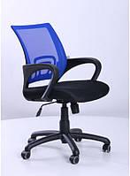 Кресло Веб сиденье Сетка черная/спинка Сетка Синий