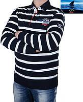 Свитер мужской Paul Shark (Пол Шарк)  в полоску, качественный мужской свитер-поло.