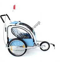 Велоприцеп, прицеп для велосипеда двухместный