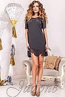 Женская темно-серая туника Санти_1 Jadone Fashion 50-56 размеры