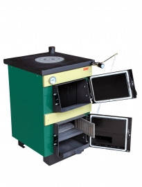Котел твердотопливный Тивер АКТВ-14 котел плита (одна комфорка), фото 2