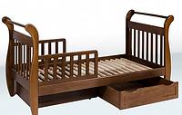 Кровать-сани с ящиками 1800*850 (бук)