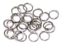 Колечки соединительные голдфилд, Цвет: Серебро, Размер: 4х0,8 мм, 25 г (ок. 300 шт) 24_2_57а1