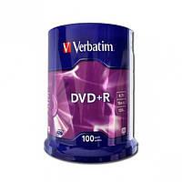 Диски DVD-R Verbatim 100 штук 43551