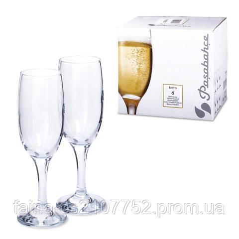 Бокал  Бістро шампанське техтар 190гр 44419