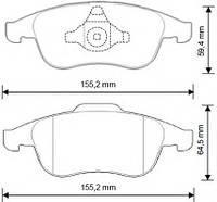 Тормозные колодки DACIA LODGY/Дачия Лоджи 03/2012 - дисковые передние, Q-TOP  QF1734S