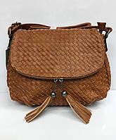Плетеная удобная сумочка через плечо