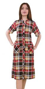 Женский халат на пуговицах от 50-56
