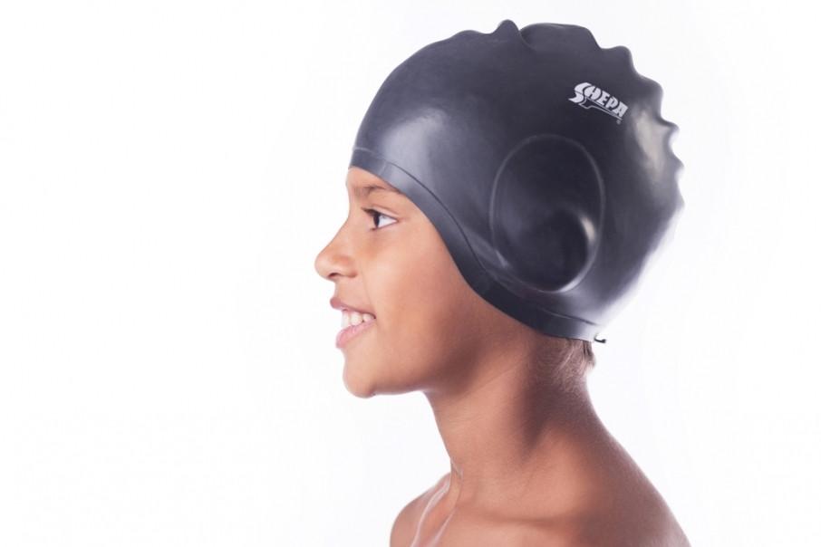 Шапочка для плавания с ухом Shepa Ucho (original) для бассейна, силикон, взрослая/детская
