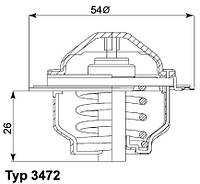 Термостат AUDI A3, A4;SKODA OCTAVIA;VW GOLF V,VI,PASSAT,TOURAN 1.6FSI,2.0TDI BNA,BRF 04- 03G121113