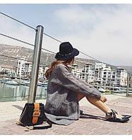 Женская фетровая шляпа металлический обод
