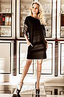 Черное платье-туника Кобби_1 Jadone Fashion 50-56 размеры