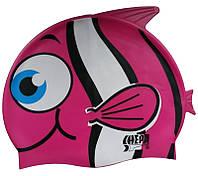 Шапочка для плавания детская Shepa Pletwa (original) для бассейна, силикон, рыбка