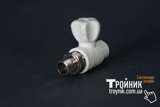 Шаровый кран для радиатора ппр прямой 20х1/2
