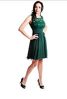 Платье коктейльное Валентино зелень