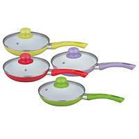 Сковорода Maestro Rainbow диаметр 28 см (желтая, зеленая, красная, фиолетовая)