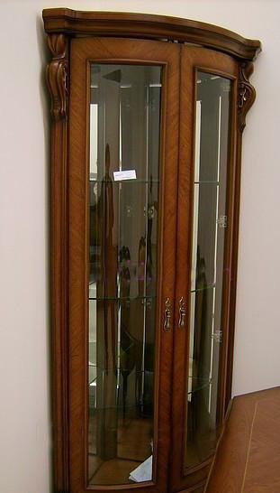 Витрина угловая  в классическом стиле, гостиная CF 8639