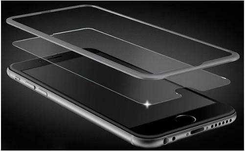 Защитное стекло iPhone 6 с алюминиевой рамкой