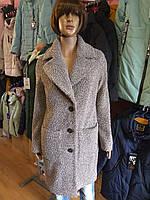 Пальто длинное мягкое букле