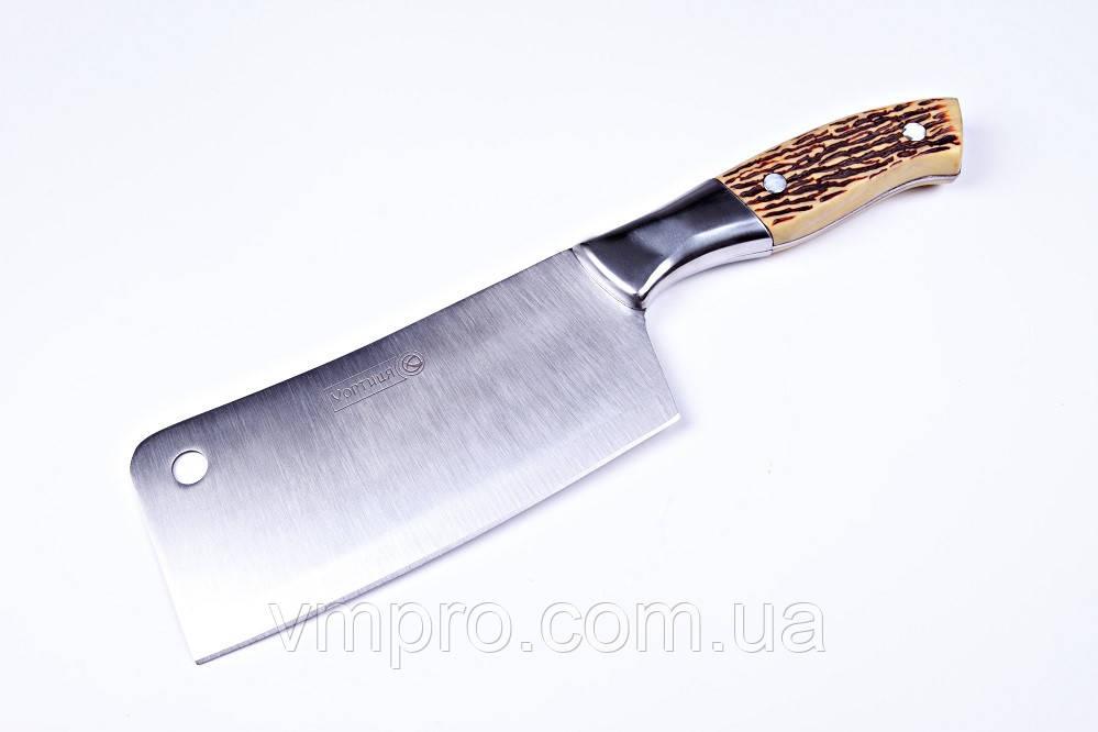 """Ніж топірець кухонний """"Хортиця"""",топірець універсальний,27 см,кістяна ручка"""