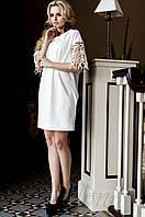 Белое платье-туника Кобби_1 Jadone Fashion 50-56 размеры