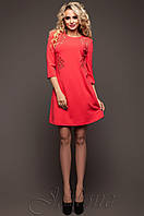 Батальная женская красная туника Силар_1 Jadone Fashion 50-56 размеры