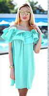 Летнее платье с открытыми плечами Волан Цвета 7716 КК, фото 1
