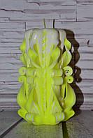 Интерьерная свеча ярко желтая м-067