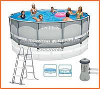 Каркасный бассейн + насос-фильтр 427*107 см, арт. 28310