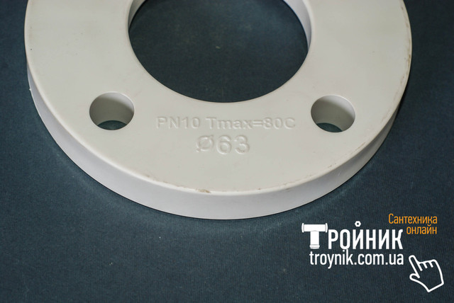Фланец пластик ABS 40 PN10 cталь Ду 32 Tebo белый