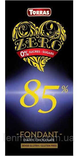 Черный шоколад без сахара Torras ZERO Dark chocolate 85% cacao 100 г