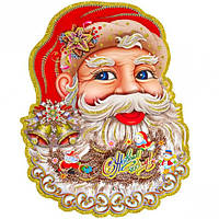 Плакат лицо Деда Мороза 221-2