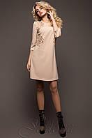 Батальная женская бежевая туника Силар_1 Jadone Fashion 50-56 размеры