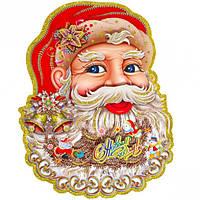 Плакат лицо Деда Мороза 221-3