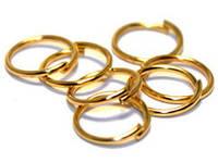 Колечки соединительные голдфилд, Цвет: Золото, Размер: 6х0,8 мм, 25 г (ок. 250 шт) 24_2_58а3