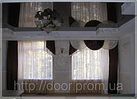 Натяжной потолок перламутр и металик