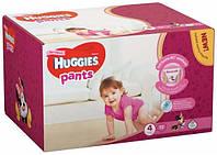 Подгузники-трусики Huggies Pants для девочек 4 (9-14 кг), Box 72 шт.