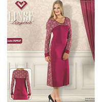 """Женская рубашка-платье с длинным рукавом""""Sevim"""" р. L"""