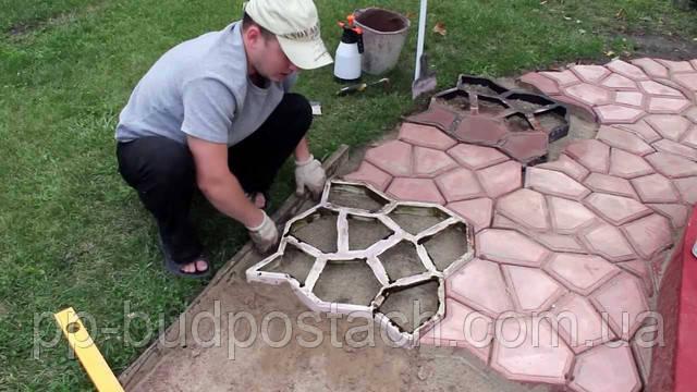 Виготовлений процес тротуарної плитки в домашніх умовах