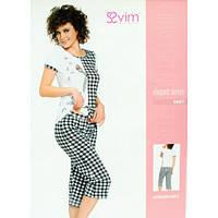 Комплект женский футболка и бриджи Sevim 5491