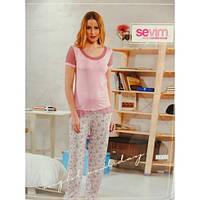 Пижама женская футболка и бриджи Sevim 6917