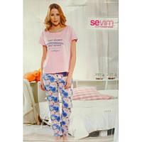 Пижама женская футболка и бриджи Sevim 6969