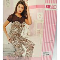 Пижама женская футболка и бриджи Sevim 6586
