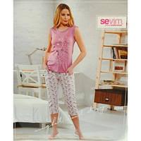 Пижама женская футболка и бриджи Sevim 6935