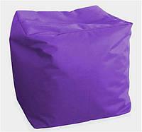 """Пуф детский """"Куб Оксфорд"""" фиолетовый, 40*40*40см"""