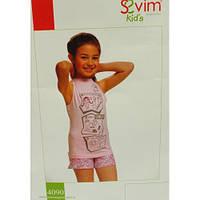 Комплект для девочки маечка и шортики Sevim 4090