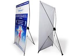 Мобильный стенд паук x-banner 0,8х1,8 м