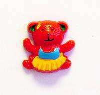 Кабошон-Мишка (красный)