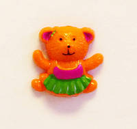 Кабошон-Мишка (оранжевый)